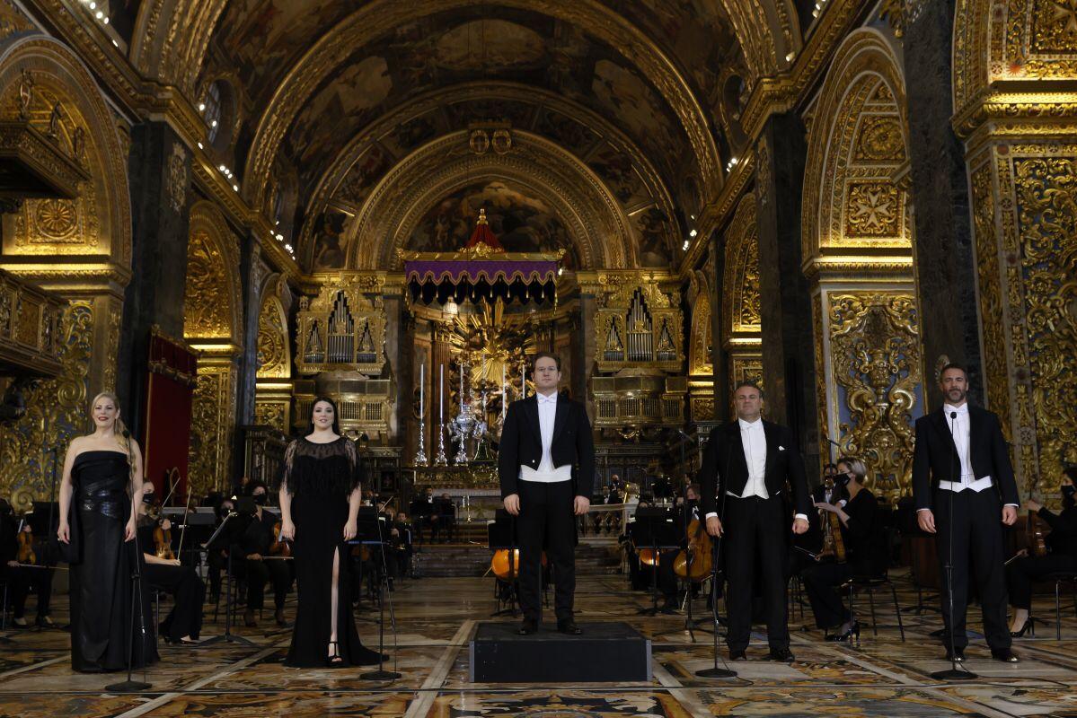 Ramón Tebar y Christian van Horn en el Réquiem de Verdi en La Valetta.