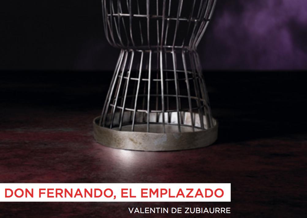 """Cartel, a la mitad, de """"Don Fernando el Emplazado"""""""