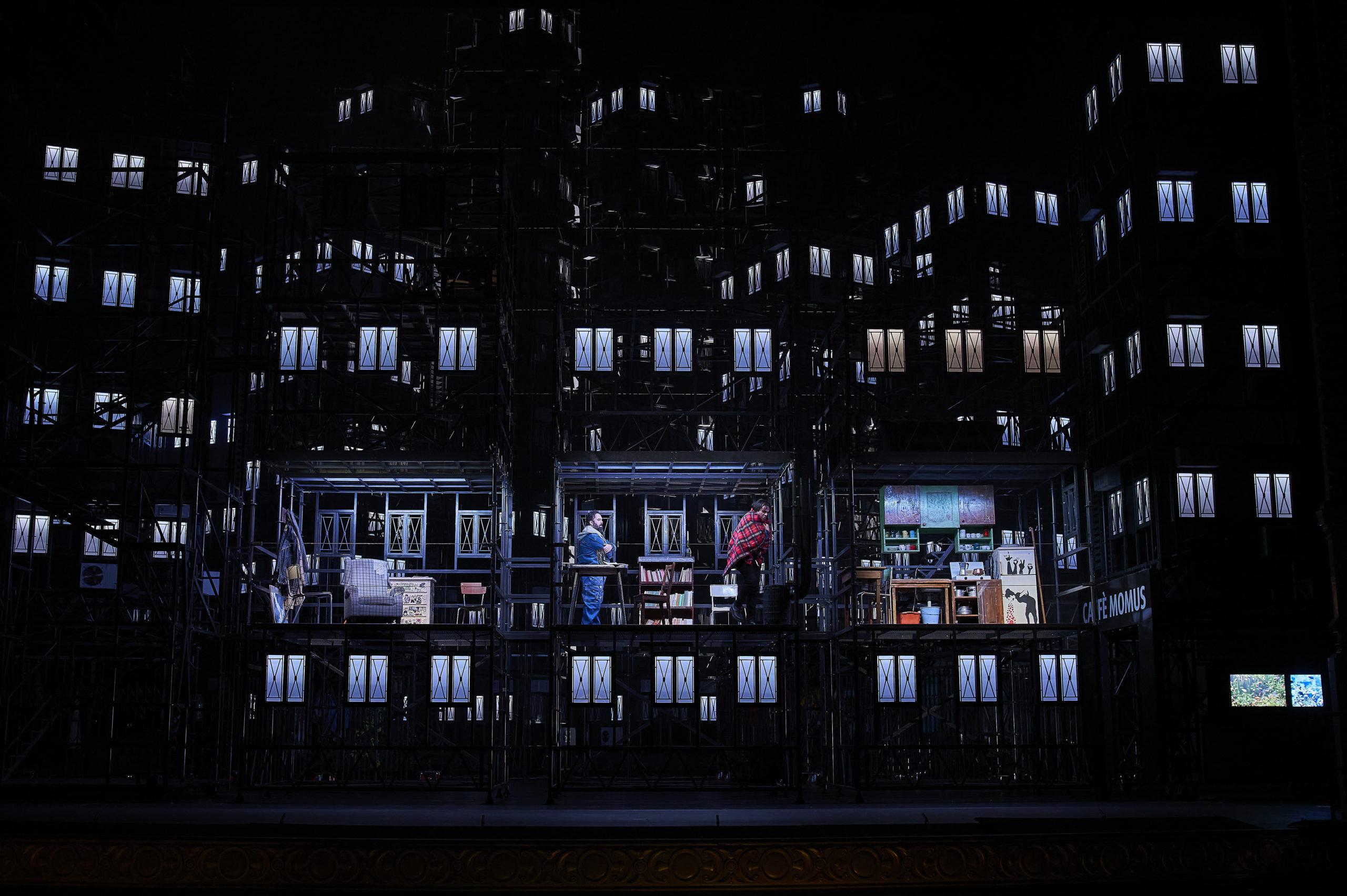La Bohème en el Liceu. Las habitaciones del apartamento de los bohemios. ©David Ruano