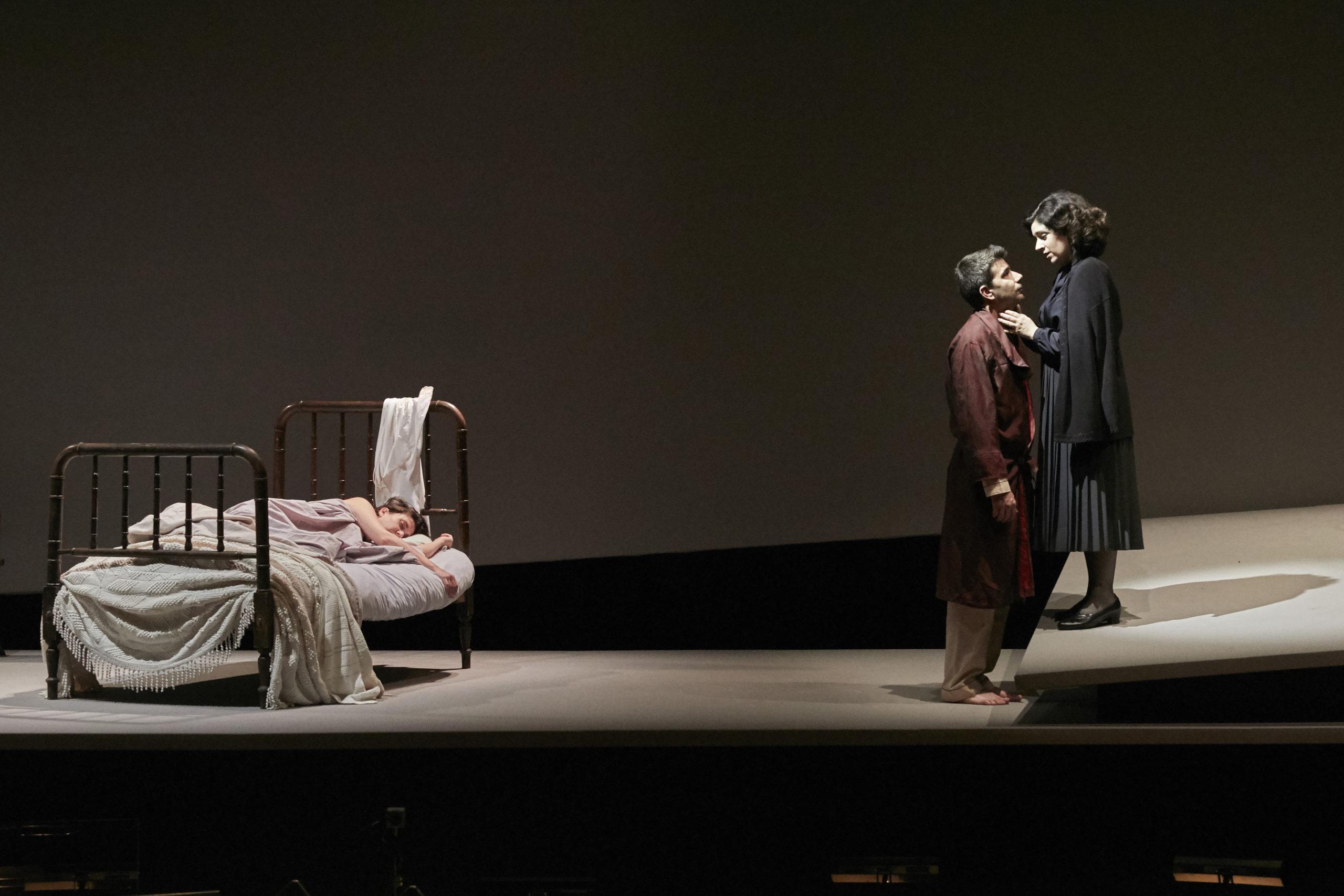 """Isaac Galán y María Miró en """"Tránsito"""", la ópera de Jesús Torres.      © Jesús Ugalde"""