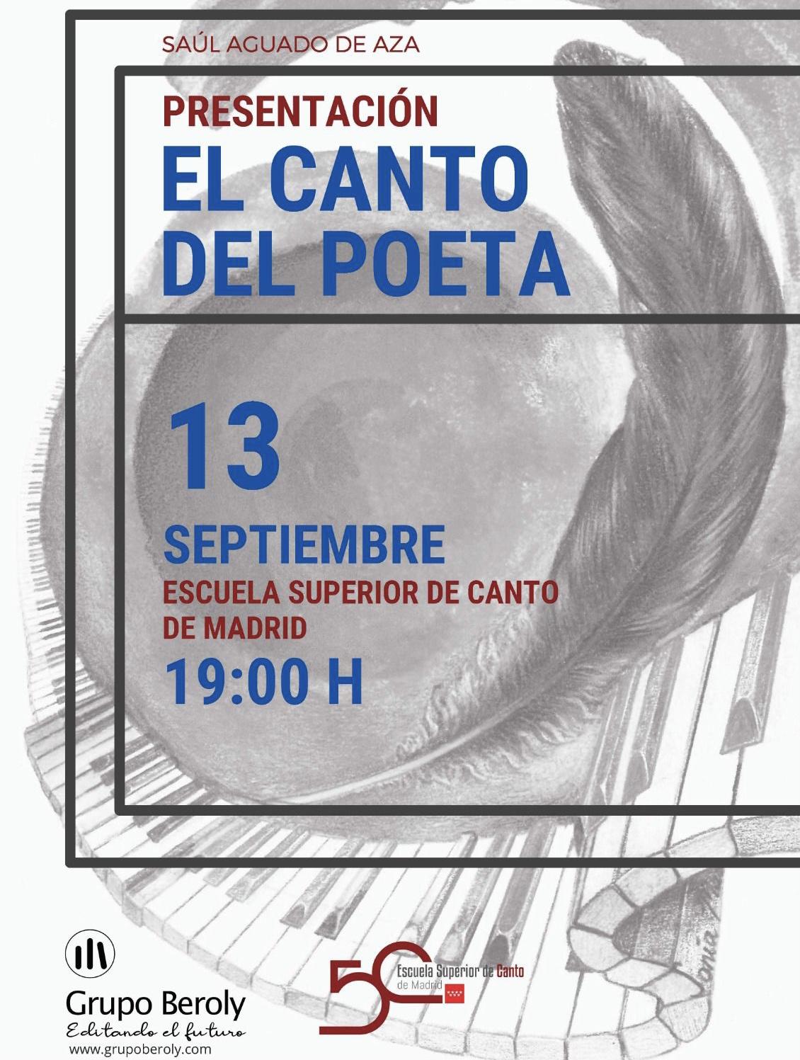 Cartel publicitario de la presentación de EL CANTO DEL POETA